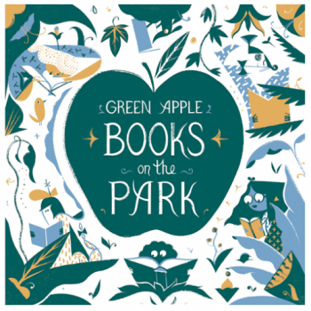 A logo illustrated by Roman Muradov for Green Apple Books on the Park, the second Green Apple store.